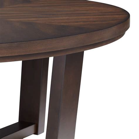 """Solid wood, lacquer, mirror include: Conrad 40"""" Wide Dark Brown Wood Round Coffee Table ..."""