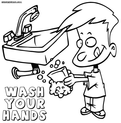 Hand Washing Coloring Pages Bltidm