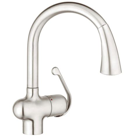 grohe stainless steel pull faucet pull