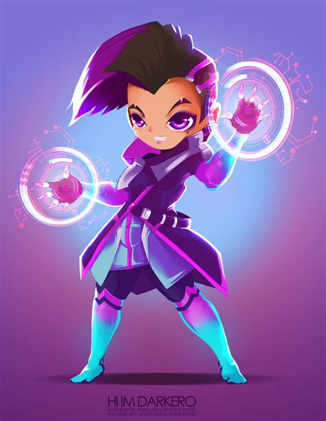 Overwatch Sombra Chibi by humberto-max on DeviantArt