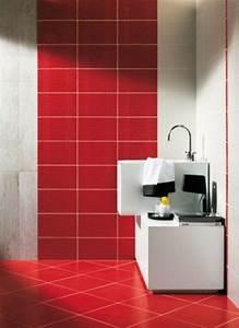 le carrelage mural salle de bain qui va vous plaire With carrelage rouge salle de bain