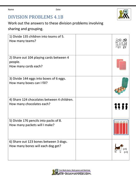worksheet 4th grade division grass fedjp worksheet study