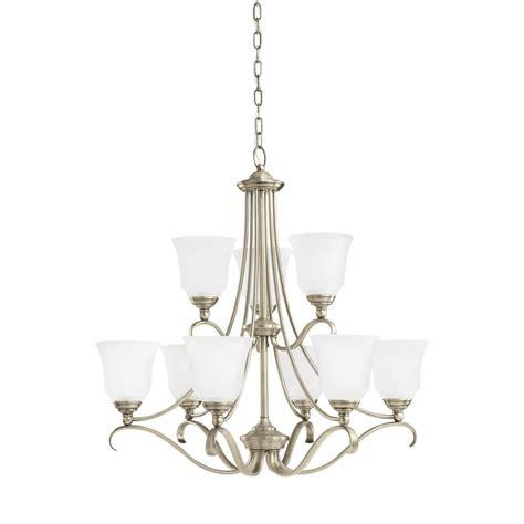 antique nickel chandelier sea gull lighting parkview 9 light antique brushed nickel