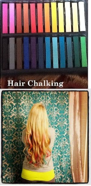 Hair Chalking With Oil Pastels