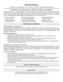 resume for sales person equipment salesperson resume