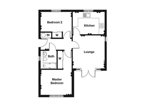 Bedroom Floor Plan by 2 Bedroom Bungalow Floor Plan 2 Bedroom House Plans 2