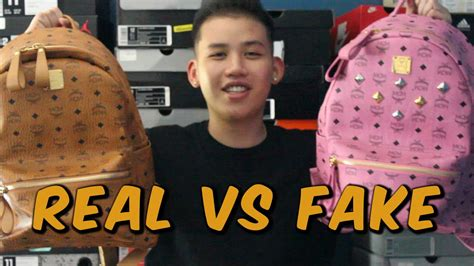 difference   realfake mcm backpack youtube