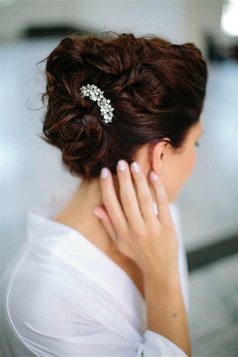 bridal hairstyles open semi open  pinned