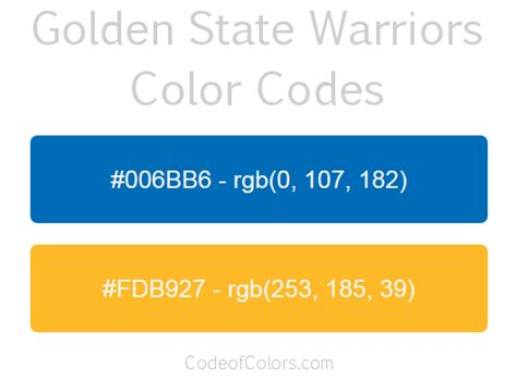 warriors colors golden state warriors colors hex and rgb color codes