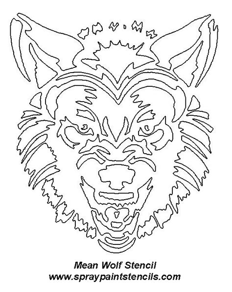 Scary Wolf Pumpkin Carving Patterns by Free Animal Stencils Page 4