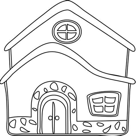 ste da colorare gratis per bambini casa da colorare per bambini con disegno di la casa da