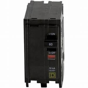 Square D Qo 60 Amp 2-pole Circuit Breaker-qo260cp