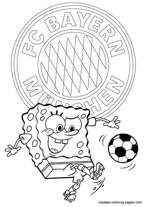 Kleurplaat Bayermunchen by Bayern Munchen Spongebob Soccer Free Printable
