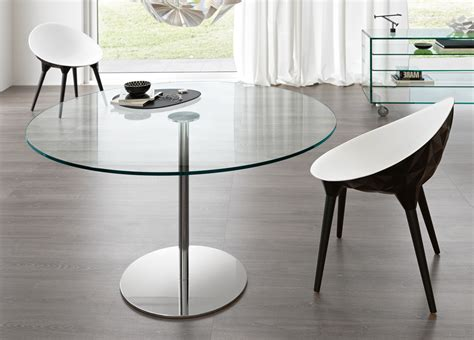 Tonelli Farniente Round Glass Table  Round Glass Dining