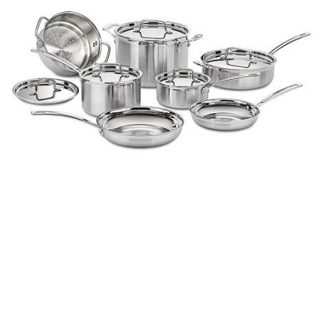 cuisinart mcp  multiclad pro stainless steel  piece cookware set mcpn lifestyle  focus