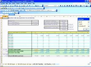 8 npv calculator excel template exceltemplates With npv excel template