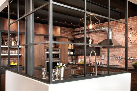 cuisine style industrielle cuisine style design industriel idéal pour loft ou grande maison meuble et décoration