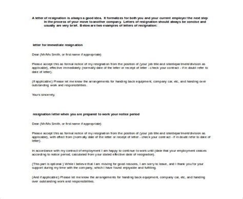 resignation letter template word 23 resignation letter templates free word excel pdf