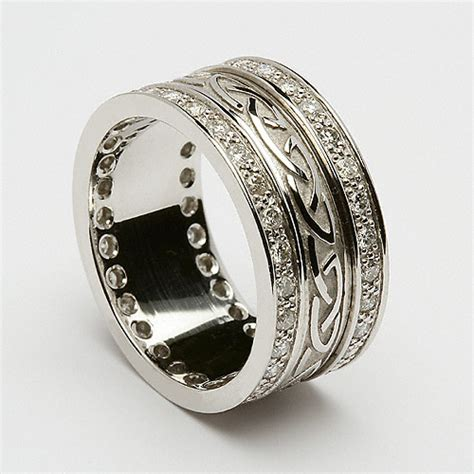 celtic wedding rings  traditional symbol  love polka