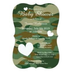 Camo Baby Shower Invitations