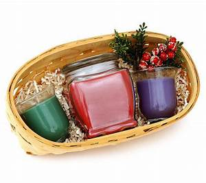 Holiday Candle Gift Basket by Valerie — QVC
