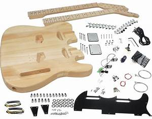 Solo Tc Style Double Neck Diy Guitar Kit 787392885384