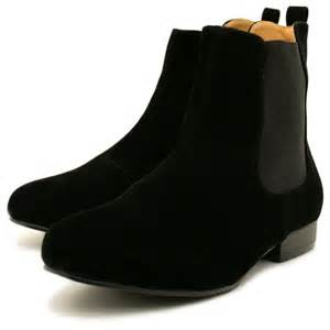 womens ankle boots flat uk womens black suede style chelsea flat ankle boots from spylovebuy uk