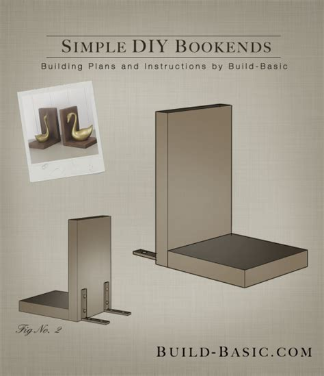 build simple diy bookends building plans  atbuildbasic