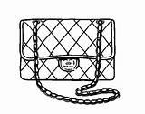 Chanel Coloring Clutch Purse Pages Chain Gold Colorear Picolour Coloringcrew Template sketch template