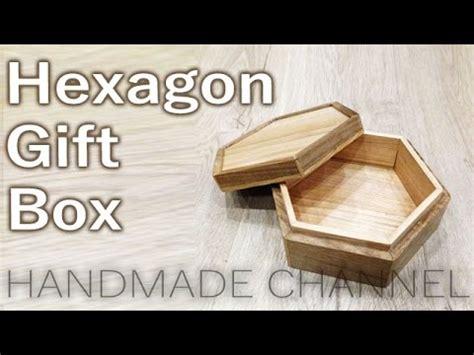 hexagon wooden gift box woodworking  handmade channel
