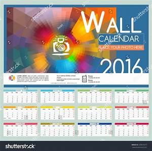 Design wall calendar vector templates stock
