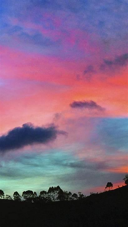 Iphone Sky Sunset Rainbow Cloud Nature Plus
