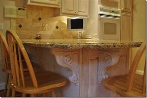 Accenting Your Kitchen Remodel with Hard Carved Corbels