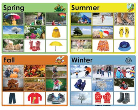the weather and the four seasons books and activities 446 | seasonmatch1 0