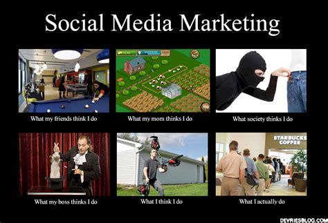 Media Memes - the what i actually do meme social media marketing derek devries imprudent loquaciousness