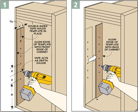 cabinet drill template drilling template woodsmith tips