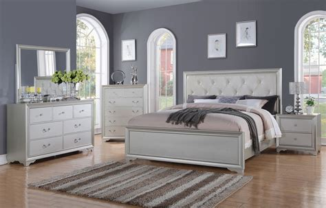silver bedroom set silver finish bedroom furniture