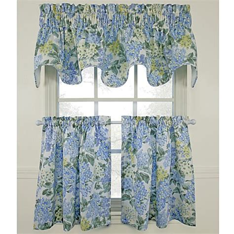 blue yellow curtains hydrangea blue window curtain tiers 100 cotton bed