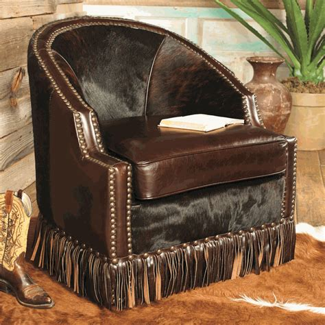 Leather Cowhide Furniture by Houston Cowhide Leather Chair