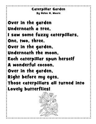 caterpillar garden poem we changed cocoon to chrysalis to 422 | feaaee390c2c391bcd4559b24adfc720