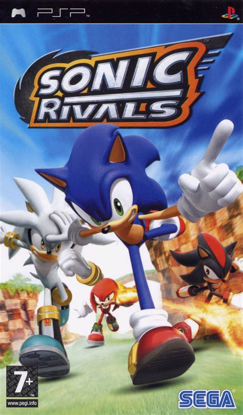 sonic rivals  psp box cover art mobygames