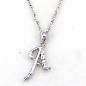 new design stylish alphabet letter a simple silver pendant With letter pendant designs