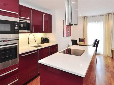 Maroon Modern Kitchen Decorating Idea