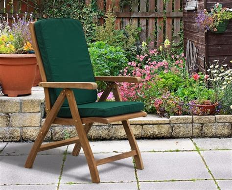 titan teak 6 seater patio table and reclining chairs set