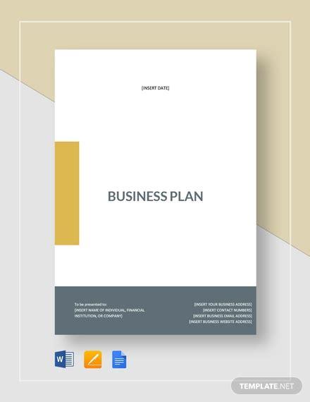 simple business plan template word google docs apple