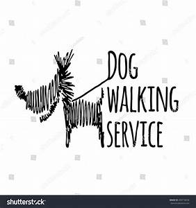 Dog Walking Service Logotype On White Stock Vector ...