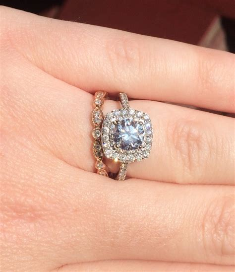 wedding and engagement rings that don t sit flush together weddingbee