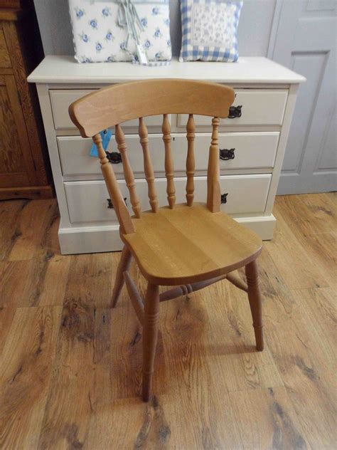 solid beech spindle back farmhouse kitchen chairs