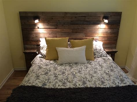 lights for headboards pallet headboard with shelf lights and plugs for cell