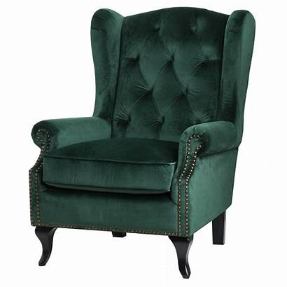 Chair Emerald Wing Button Pressed Hill Interiors